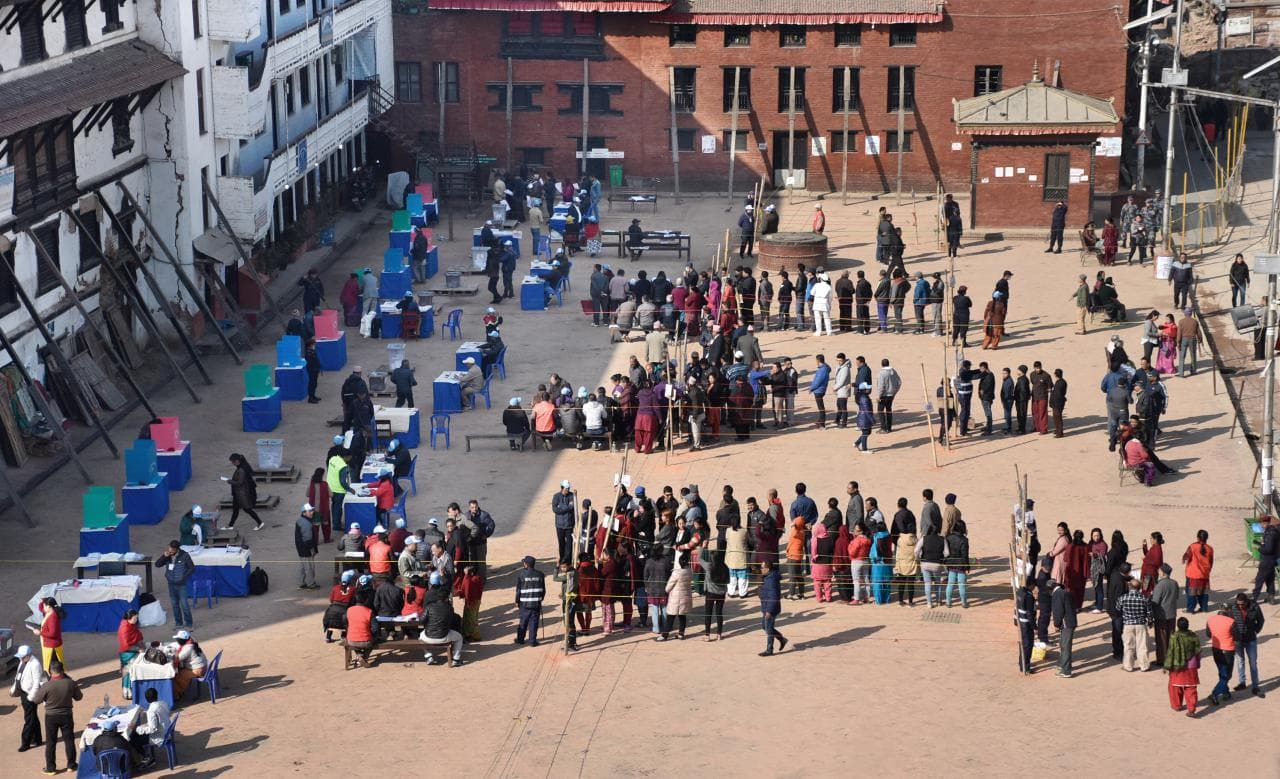Voting for development in Nepal